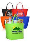 Custom 20W x 13H inch Assorted Colors Non-Woven Shopper Tote Bags