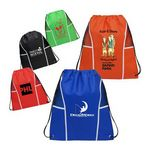 Custom Non Woven Drawstring Backpack with Mesh Panels