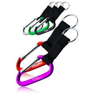 Metallic Color Carabiner with Strap