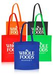 Custom 13.5W x 14.5H inch Assorted Colors Popular Non-Woven Tote Bags