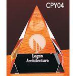 Custom Medium Crystal Pyramid Award