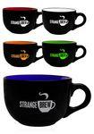 Custom 23 oz Two Tone Soup Mugs with Handles