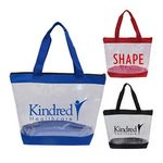 Custom Clear Zipper Tote With Large Imprint Area