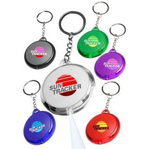 Round Translucent Light Key Chain