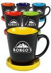 Custom 12 oz. Two Tone Latte Mugs with Ceramic Coasters