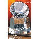Custom Crystal Diamond Collection Crystal Base - 4 3/8