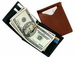 Custom Men's Cash Clip Wallet w/ Two Outside Pockets (3 3/8
