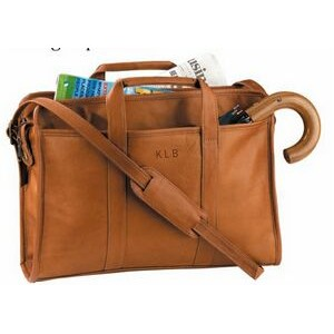 "Leather Soft-Sided Briefcase (11 1/2""x16""x3 3/4"")"