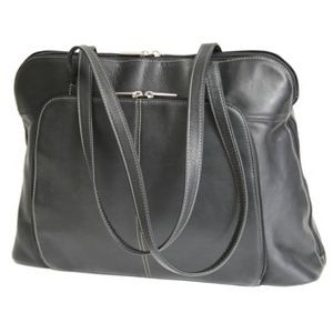 "Leather Vaquetta Nappa Ladies' Tote Bag (17.5""x13""x6"")"