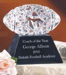 Custom Waterford Crystal Football Award