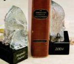 Custom Glass Elephant Book Ends