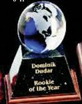 Custom Clear Glass World Globe Award w/ Base (3
