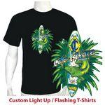 Custom Small 100 percent Cotton Women's Light Up Flashing T-Shirt