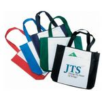 Custom Polyester Shopping Tote Bags W/Gusset (16-1/2
