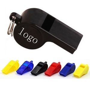 2'' L Plastic Sports Whistles with Keyring