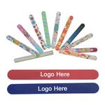 Custom 7'' Multi-Color Thick Foam Nail File with PVC bag