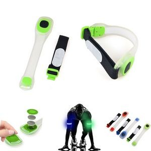 Silicone Flashing Safety LED Light - Up Armbands