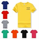 Custom Round Collar Short T-Shirt