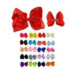 Custom Grosgrain Ribbon Bow Hair Clip Barrettes