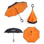Custom Automatic Inverted Umbrella with C Handle