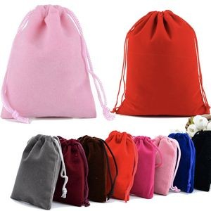 Velvet Cloth Drawstring Jewelry Bags Pouches