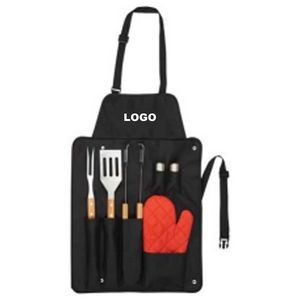 BBQ Kit Set w/6 Tools and 1 Apron