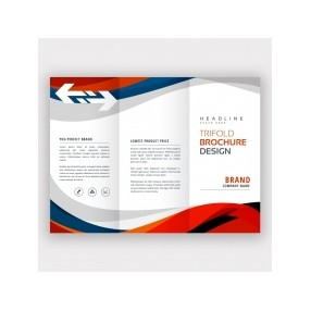 "8.5""x5.5"" Tri-Fold/Letter Fold Horizontal Brochure (90 Lb Uncoated Paper - Outside)"