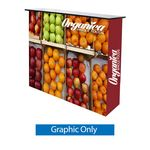 Custom Fabric pop up counter display Graphic only (33.5