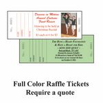 Custom House Raffle Ticket 67lb Bristol Black ink