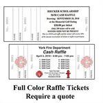 Custom Double Stub Tickets (2 3/4