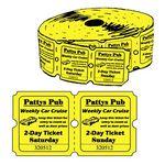 Custom Big Boy Double Roll Tickets