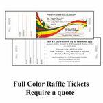 Custom Raffle Ticket Long and Thin 67lb Bristol Black Ink