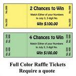 Custom Lottery 2 Chance Tickets (2 1/8