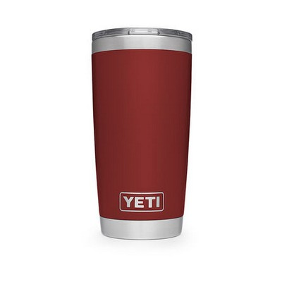 Engraved Stainless Steel Yeti Rambler 20oz Tumbler - Red w/ MagSlide Lid