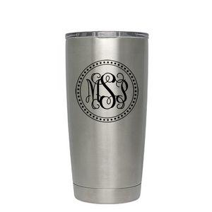Engraved Stainless Steel Yeti Rambler 20oz Tumbler w/ MagSlide Lid