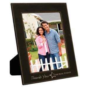 "Branded Leatherette Picture Frame 8"" x 10"""