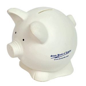 Contemporary Pig Bank (White)