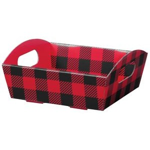 Buffalo Plaid Small Corrugated Presentation Tray