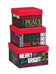 Custom Holiday Chalkboard Square Nested Box Set
