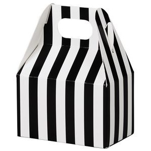 Black & White Stripes Mini Gable Box