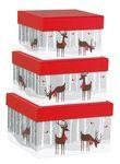 Custom Reindeer Wonderland Square Nested Box Set
