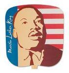 Custom Martin Luther King w/Flag Stock Religious & Inspirational Fan