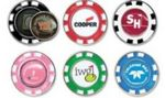 Custom Metal Poker Chip w/Removable Golf Ball Marker
