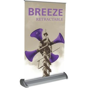 Breeze 2 Tabletop Banner Stand with Vinyl Graphic