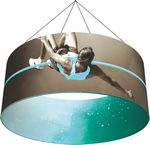 Custom Ring 8' x 4' Hanging Structure & Double Sided Graphic