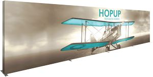 Hopup 30ft Full Height Straight Display Full Fitted Graphic