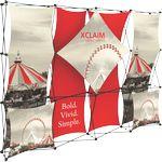 Custom Xclaim 10ft Fabric Popup Display Kit 01
