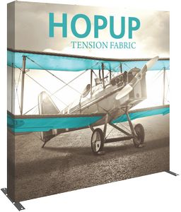 Hopup 7.5ft Straight Display & Full Fabric Graphic