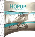 Custom Hopup 10ft Full Height Curved Display & Front Graphic