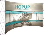 Custom Hopup 15ft Full Height Curved Display Front Graphic